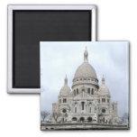 Sacre Coeur De Paris Quadratischer Magnet
