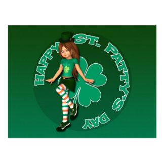 Sadie 16 Tag St. Pattys Postkarte