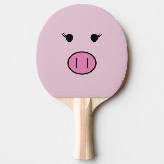 Sadie das rosa Schwein | niedliches Kawaii Tischtennis Schläger