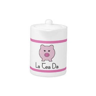 Sadie der rosa Tee-Set-Topf des Schwein-|