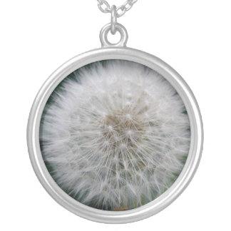 Säen der Löwenzahn-Blumen-Halskette Versilberte Kette