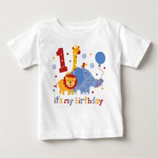 Safari-1. Geburtstag Baby T-shirt