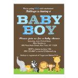 Safari-Baby-Duschen-Einladung 12,7 X 17,8 Cm Einladungskarte