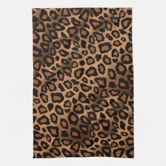 Safari-Brown-Leopard-Tierdruck Handtuch