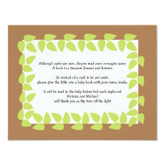 Safari-Dschungel-Baby-Babyparty GEDICHT 2 10,8 X 14 Cm Einladungskarte