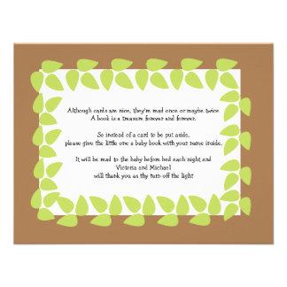 Safari-Dschungel-Baby-Babyparty GEDICHT 2 Einladungskarten