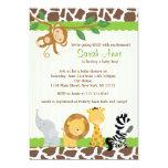 Safari-Dschungel-Baby-Duschen-Einladung