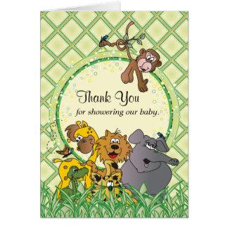 Safari-Dschungel-Baby-Tiere - danke Karte