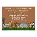Safari-Dschungel-Freund-Babyparty-Einladung