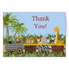 Safari-Dschungel-Tiere im Zug danken Ihnen zu Karte