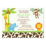 Safari-Dschungel-Zoo-Babyparty-Einladungen 12,7 X 17,8 Cm Einladungskarte