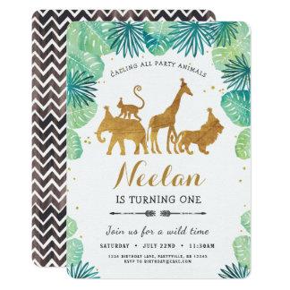 Safari-Geburtstags-Einladung Karte