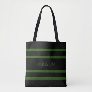 Safari-grüne und schwarze Streifen-Tasche Tasche