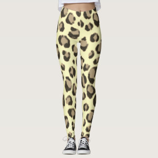 Safari-Leopard-Druck Leggings