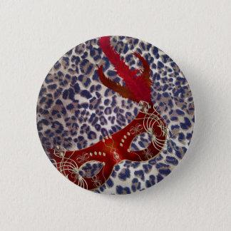 Safari-Leopard-Druck-Venedig-Maskerade Maske Runder Button 5,7 Cm