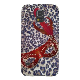 Safari-Leopard-Druck-Venedig-Maskerade Maske Samsung S5 Cover