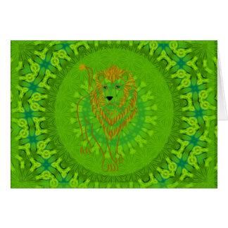Safari-Löwe-Mandala Karte