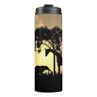 Safari-Silhouette Thermaltrommel Thermosbecher
