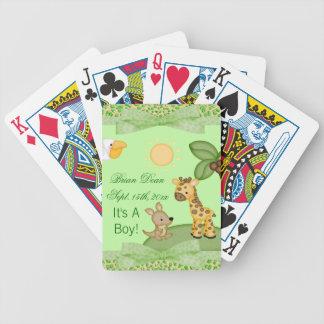 Safari-Tier-Gepard-Druck-Babyparty Bicycle Spielkarten