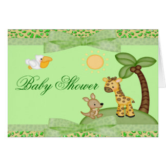 Safari-Tier-Gepard-Druck-Babyparty Karte