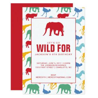 Safari-Tierjungen-Geburtstags-Party Einladung