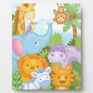 Safari-Tierkunst-Gestell Fotoplatte