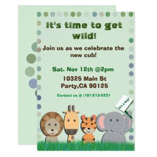 Safaribaby-Party Einladung