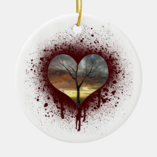 Safe der NaturHerzbaum des Lebens Keramik Ornament