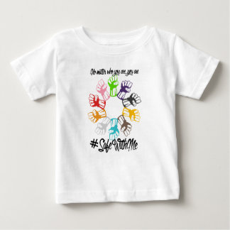 Safe mit mir Faust-Baby-Jersey-T - Shirt