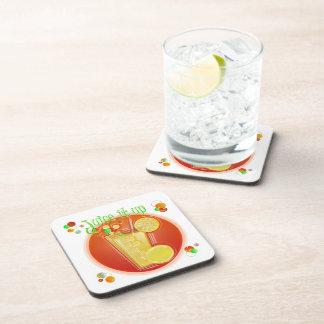 Saft 3D es herauf Cocktail Getränkeuntersetzer