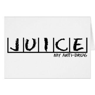 Saft Anti-Droge Karte