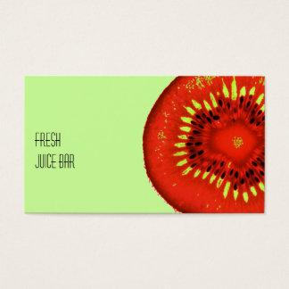 Saft-Bar-Geschäftskarte der funky Frucht frische Visitenkarte