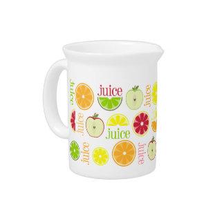 Saft-Krug - orange Zitronen-Limone Pampelmuse Appl Getränke Pitcher