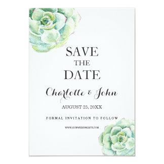 saftige Hochzeit boho Watercolor retten die Daten 12,7 X 17,8 Cm Einladungskarte