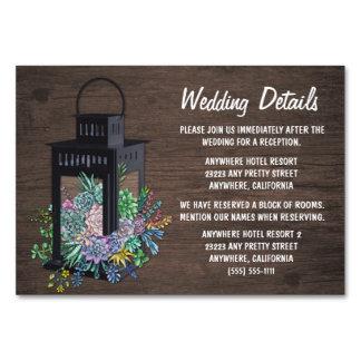 Saftige Laternen-Hochzeits-Empfangs-Einsatz-Karten Karte