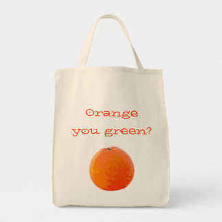 Saftige Orange Einkaufstasche