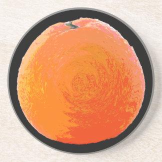 Saftige Orange Getränkeuntersetzer