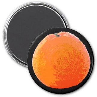 Saftige Orange Runder Magnet 7,6 Cm