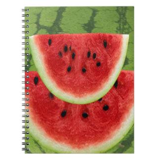SAFTIGE ROTE Wassermelonen Spiral Notizblock