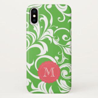 Saftige Wassermelone-Blumentapete CustomMonogram iPhone X Hülle