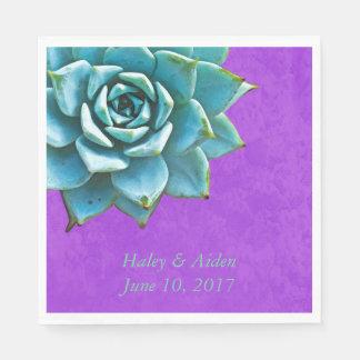 Saftiger Hochzeits-VerlobungWatercolor lila Papierservietten