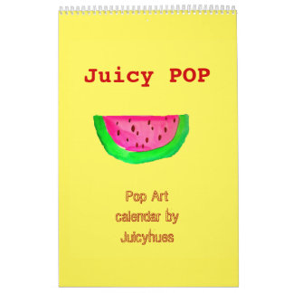 Saftiger POP Pop-Kunstkalender durch Juicyhues Wandkalender