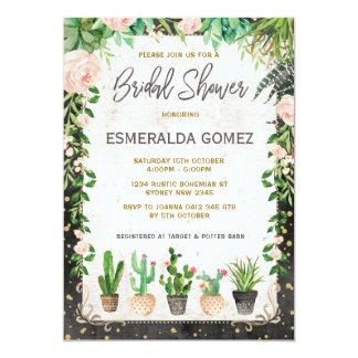 Saftiges Brautparty laden Fiesta-Kaktus-Party ein Karte