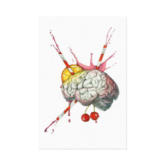 Saftiges Gehirn Leinwanddruck