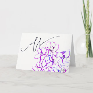 """Say """"Aloha"""" w/ the Orchid Blank Note Card - Purple"""