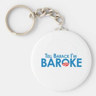 Sagen Sie Barack Im Baroke Schlüsselanhänger