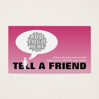 sagen Sie einem Freundempfehlungs-Comic Visitenkarte