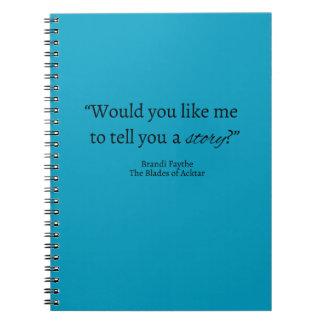 Sagen Sie einem Geschichten-Zitat-Notizbuch Notizblock
