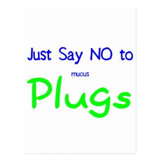 Sagen Sie einfach nein (Grün) Postkarte