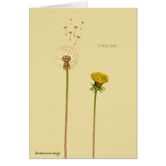 Sagen Sie es mit Blumen: Du fehlst mir Karte